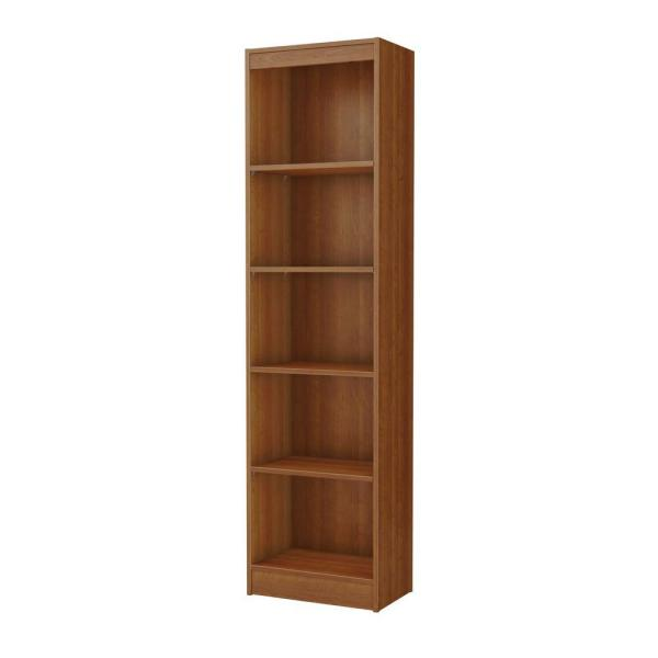 68.25 in. Morgan Cherry Wood 5-shelf Standard Bookcase with Adjustable Shelves