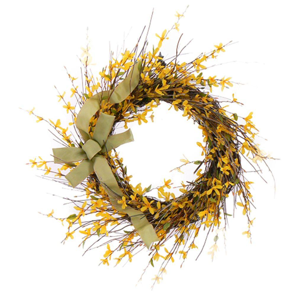 The Christmas Tree Company Dawn's Light 22 in. Dried Floral Wreath-DISCONTINUED