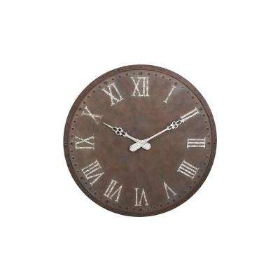 Sienna 45 in. x 45 in. Round Iron Wall Clock