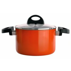 Click here to buy BergHOFF Eclipse 2 Qt. Aluminum Non-Stick Orange Casserole Dish with Lid by BergHOFF.