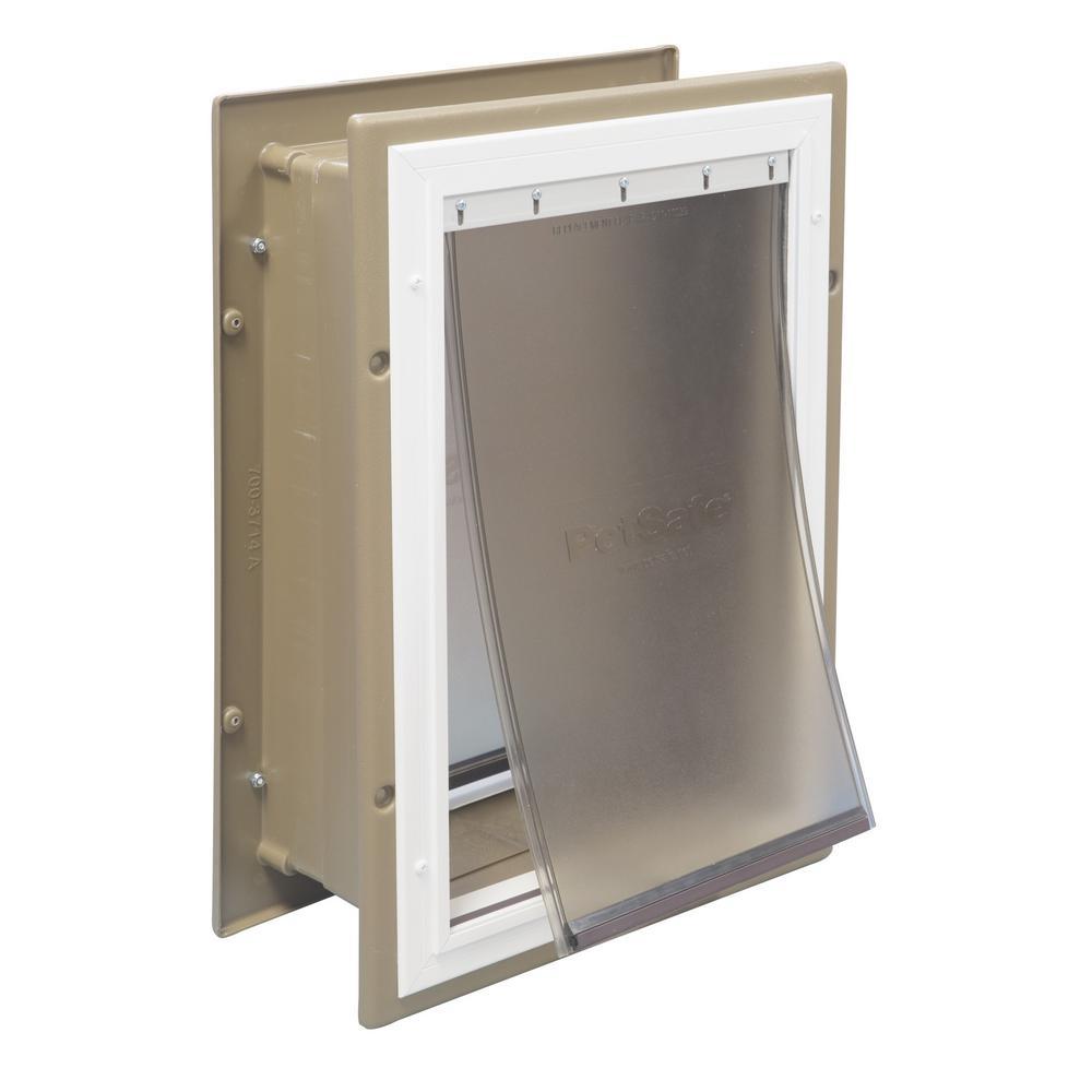 10-3/8 in. x 15-3/8 in. Large Wall Entry Aluminum Pet Door