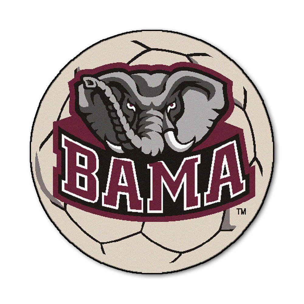 Fanmats Ncaa University Of Alabama Bama Logo Cream 2 Ft X 2 Ft