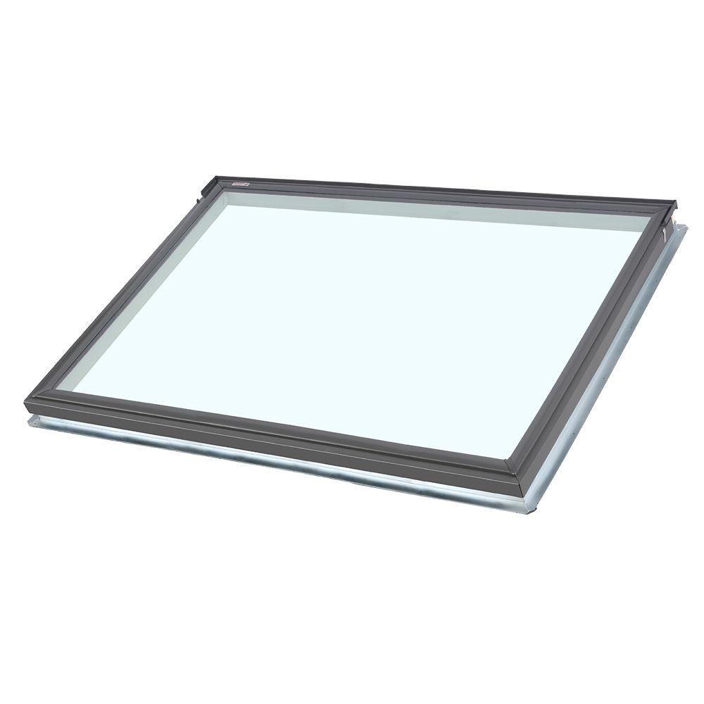 Velux 44 1 4 in x 26 7 8 in fixed deck mount skylight for Velux glass