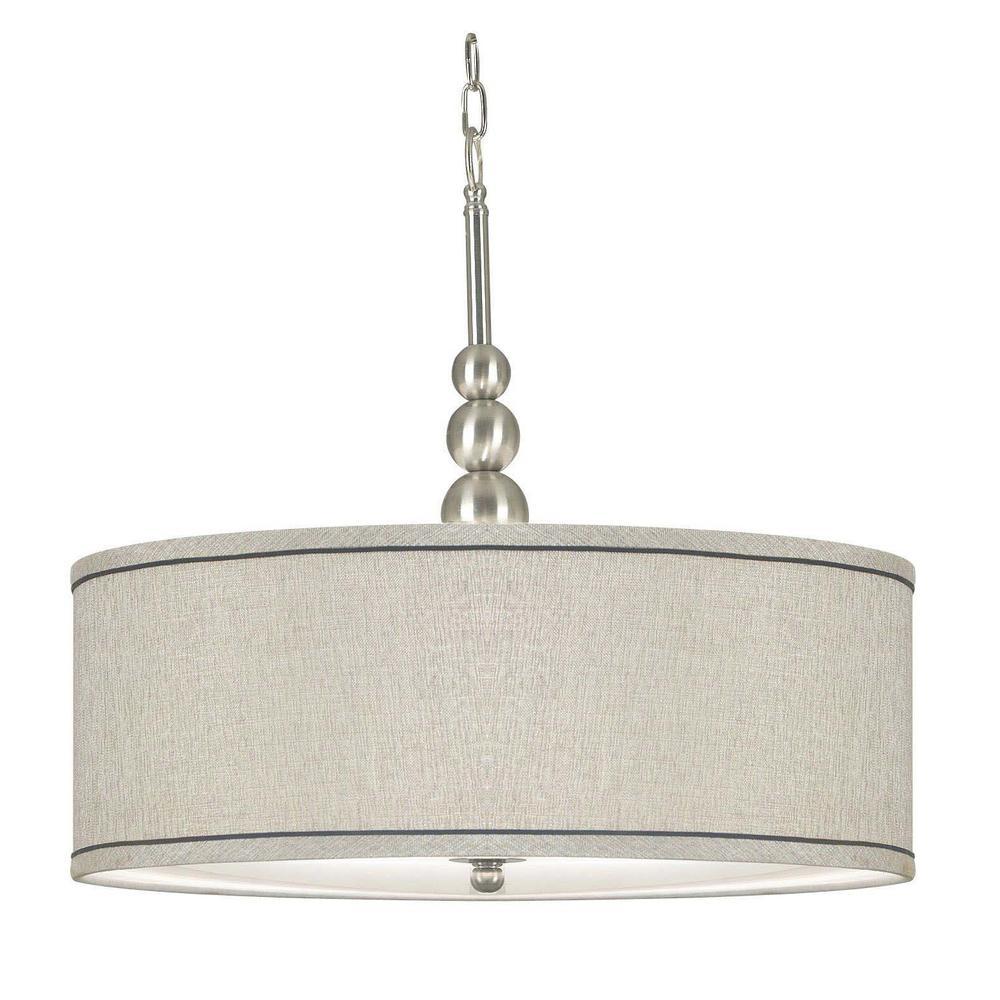 Margot 3-Light Brushed Steel Pendant