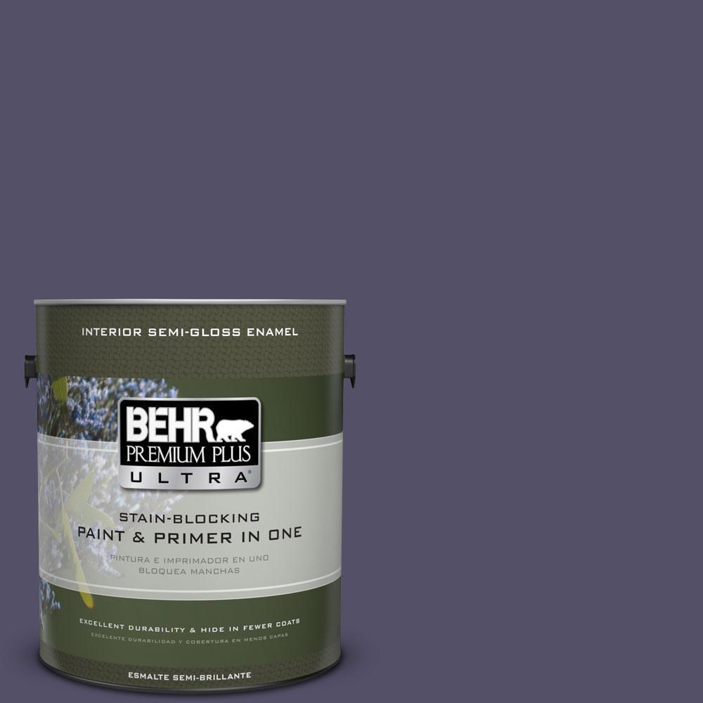 BEHR Premium Plus Ultra 1-gal. #PPU16-19 Mardi Gras Semi-Gloss Enamel Interior Paint