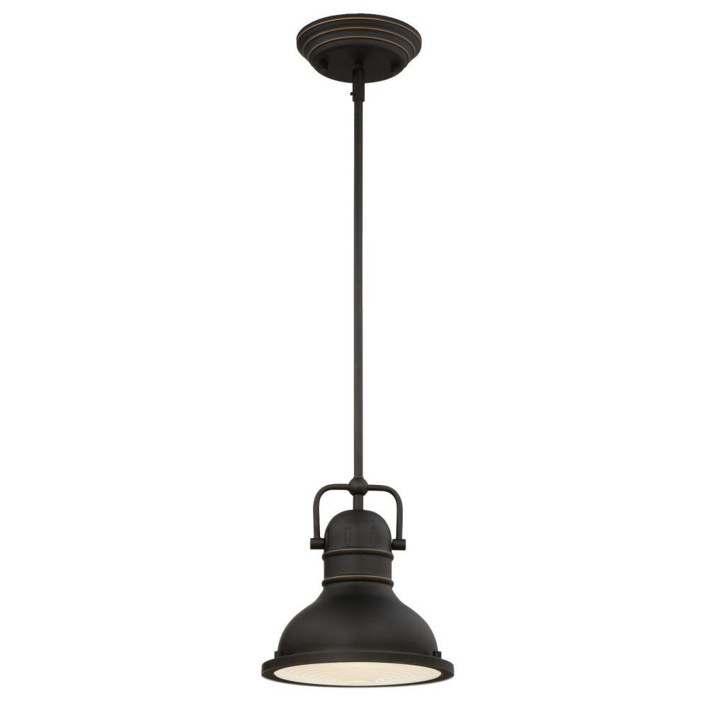 Westinghouse Boswell 1 Light Oil Rubbed Bronze With Highlights LED Mini  Pendant