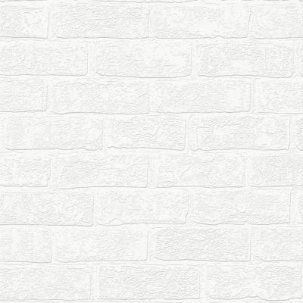 White Urban Brick Wallpaper