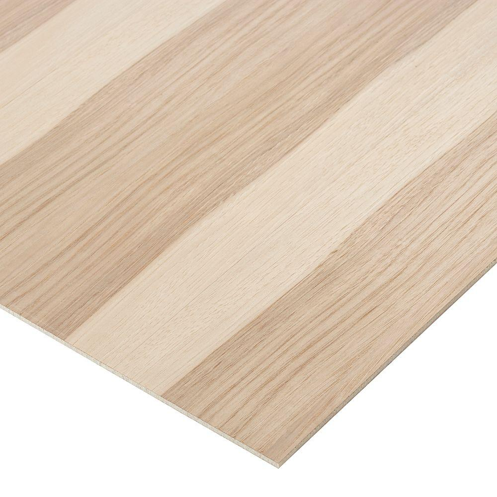 Columbia Forest Products 1/2 in. x 2 ft. x 2 ft. PureBond Hickory ...