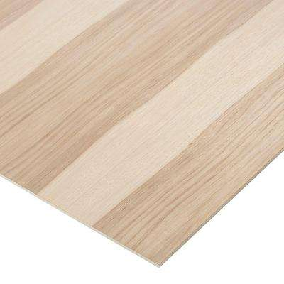 1/4 in. x 4 ft. x 4 ft. PureBond Hickory Plywood Project Panel (Free Custom Cut Available)