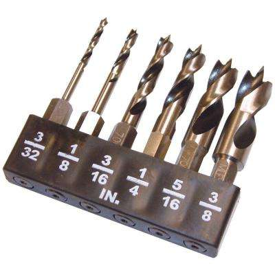 Wood Stubby Bit Set with 1/4 in. Hex Shaft (6-Piece)