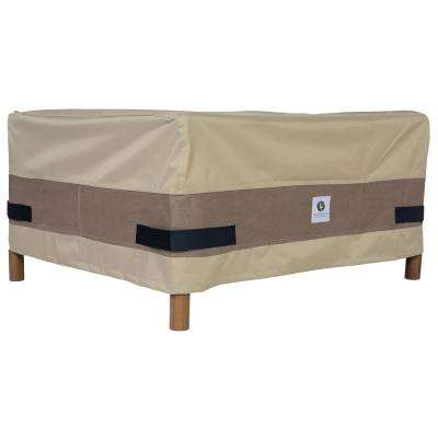 Elegant 32 in. Tan Square Patio Ottoman or Side Table Cover