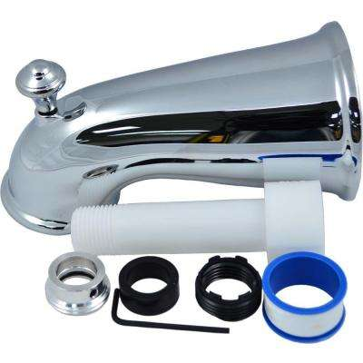 6 in. Elegant Tub Spout with Front Diverter in Chrome
