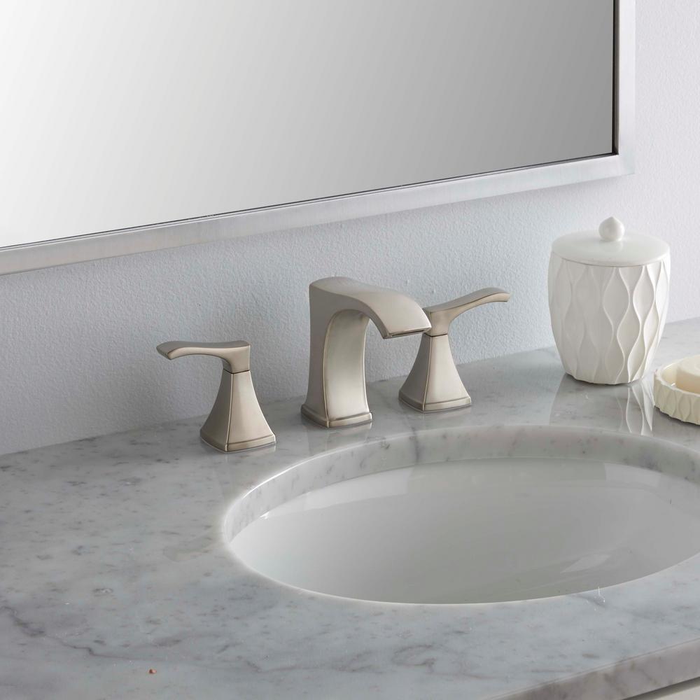 Venturi 8 in. Widespread 2-Handle Bathroom Faucet in Spot Defense Brushed Nickel