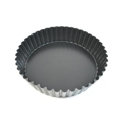 9-1/2 in. Deep Non-Stick Fluted Tart Pan with Removable Bottom