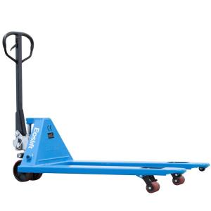 Eoslift M25 5,500 lbs. 27 inch x 48 inch Manual Pallet Truck German Seal System with Polyurethane Wheels by Eoslift