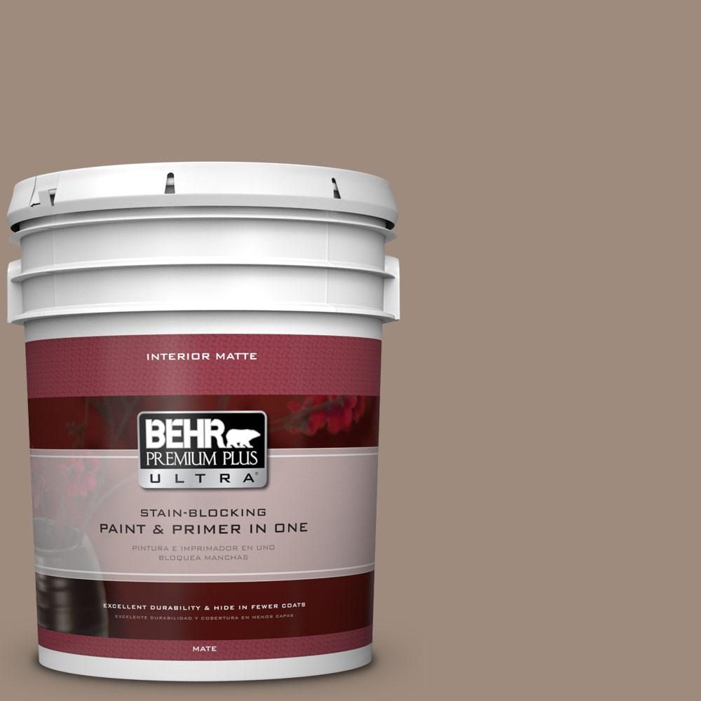 5 gal. #BXC-49 Smokey Tan Matte Interior Paint
