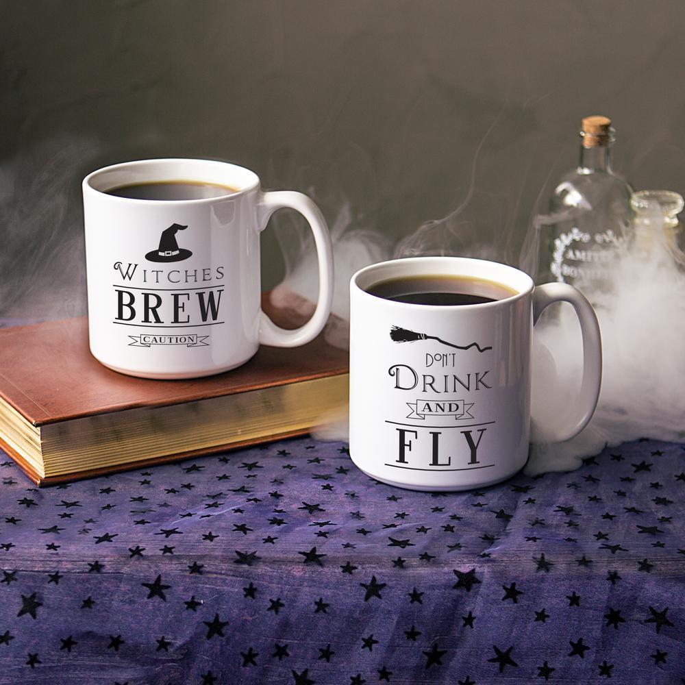 4.12 in. Witches Brew 20 oz. Halloween Coffee Mug Set
