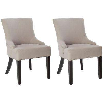 Lotus Taupe Linen Side Chair (Set of 2)