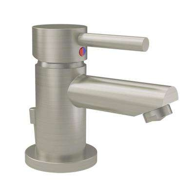 Dia Single Hole Single-Handle Bathroom Faucet with Drain Assembly in Satin Nickel (1.0 GPM)