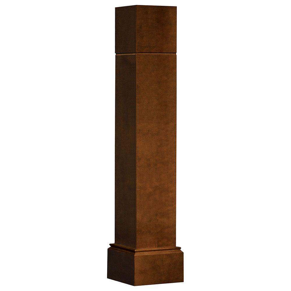 5.75x34.5x5.75 in. Decorative Corner Post End Panel in Cognac
