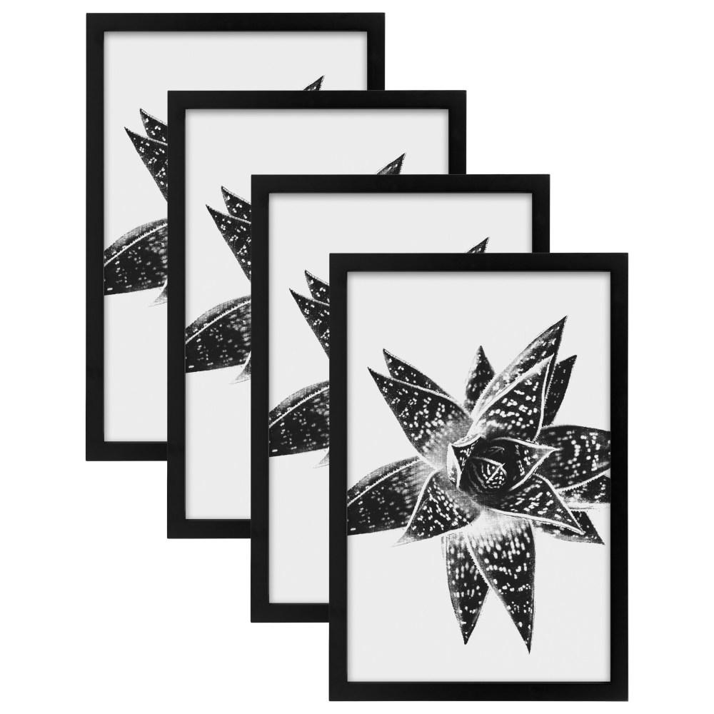 Designovation Gallery 11 In X 17 Black Picture Frame Set Of 4