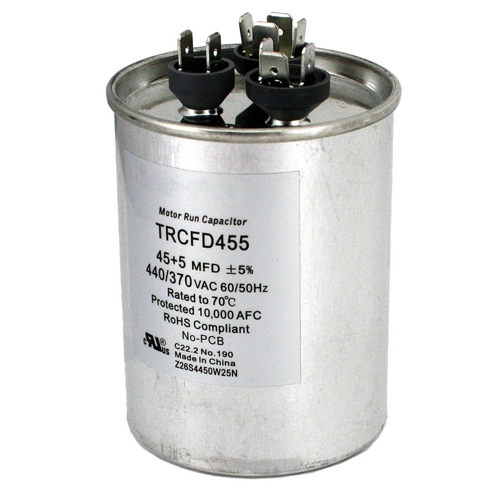 Packard 440 volt 455 mfd dual rated motor run round capacitor packard 440 volt 455 mfd dual rated motor run round capacitor greentooth Choice Image