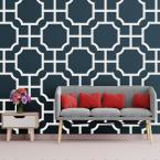 3/8 in. x 41-1/2 in. x 23-3/4 in. Large Bradley White Architectural Grade PVC Decorative Wall Panels