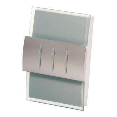 Decor Series Wireless Door Chime w/Push Button, Satin Nickel Accent, Vertical/Horizontal Mount