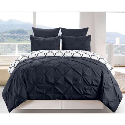Esy Reversible 3 Piece Duvet King Set in Navy