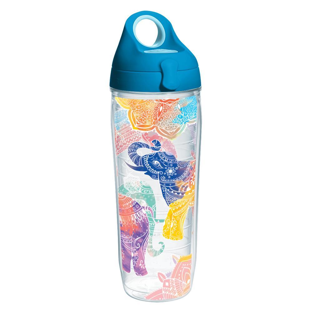 Mehndi Elephant 24 oz. Double Walled Insulated Water Bottle