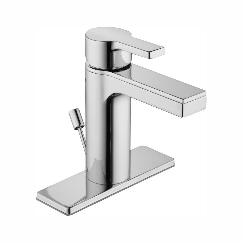 Glacier Bay Modern Contemporary Single Hole Single-Handle Low-Arc Bathroom Faucet in Chrome
