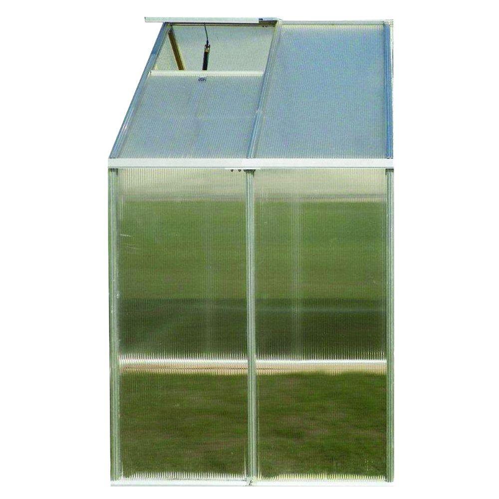 Riverstone 8 ft. x 4 ft. Aluminum Premium Greenhouse Exte...
