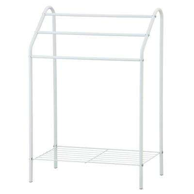 Wayar 22.83 in. W x 3.27 in. H White Tier Towel Stand