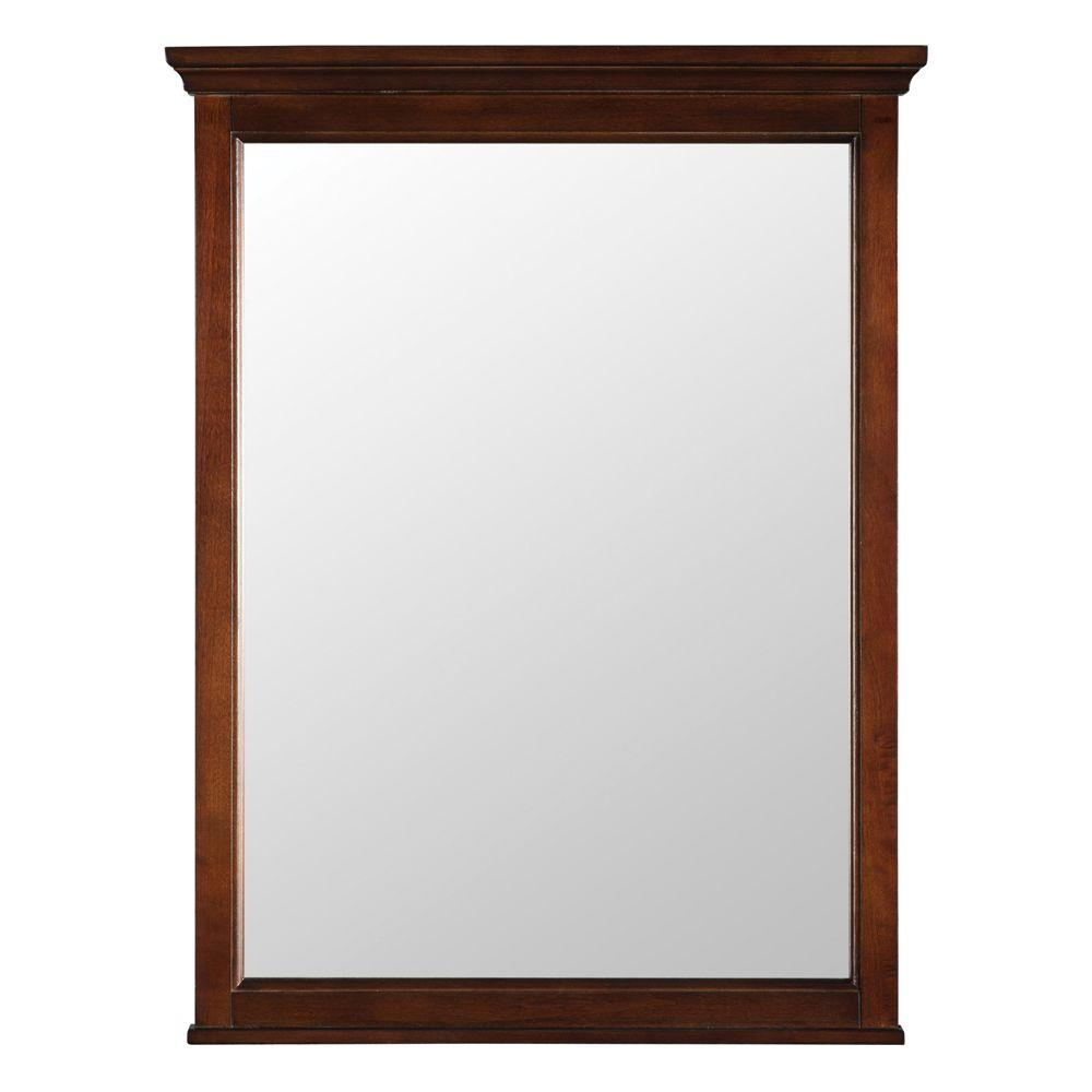 Foremost Ashburn 24 in. x 31 in. Wall Mirror in Mahogany
