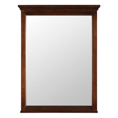 Ashburn 24 in. x 31 in. Wall Mirror in Mahogany