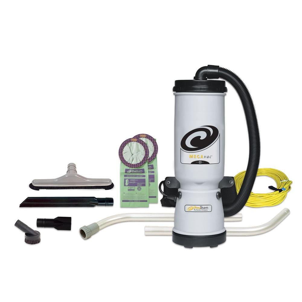 ProTeam MegaVac 10 qt. Backpack Vac with Blower Tool and Hard Surface Nylon Brush Tool Kit