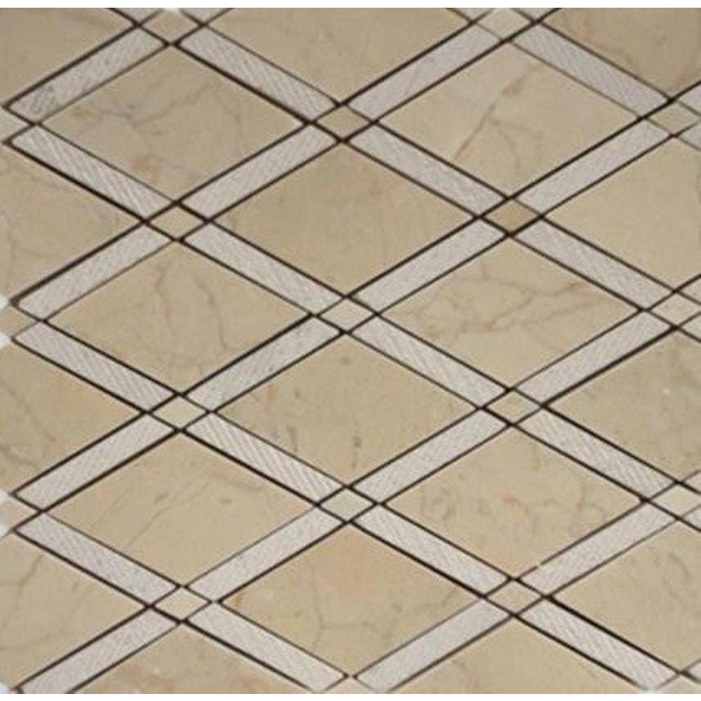 Splashback Tile Grand Textured Crema Marfil Polished Marble Tile ...