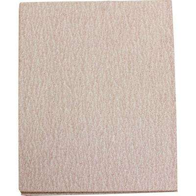 4-1/2 in. x 5-1/2 in. 60-Grit Abrasive Paper (5-Pack) For Use With 1/4 Sheet Finishing Sanders