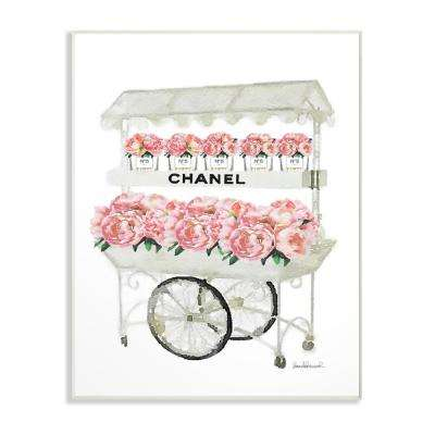 "12.5 in. x 18.5 in. ""Fashion Flower Stand"" by Amanda Greenwood Printed Wood Wall Art"