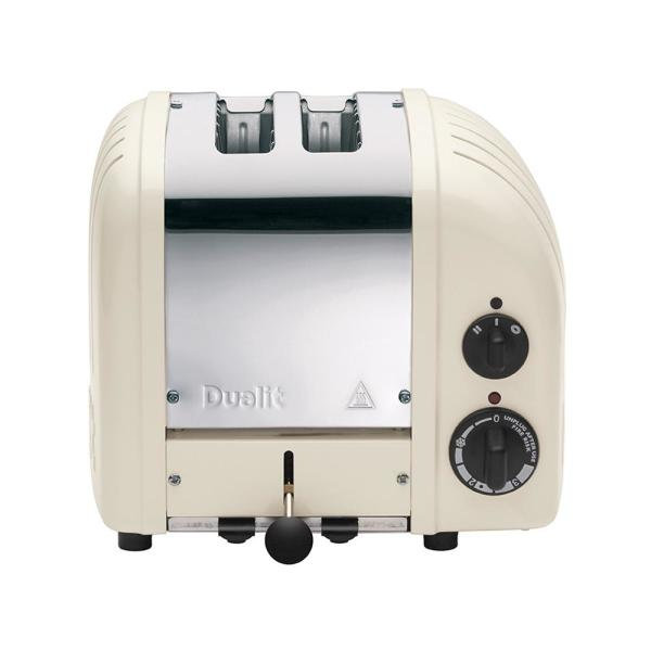 Dualit New Gen 2-Slice Canvas White Wide Slot Toaster with Crumb