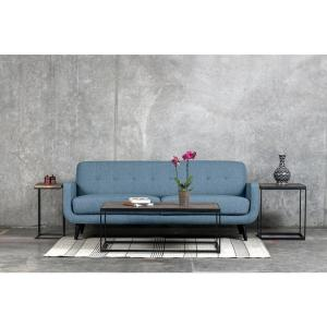Astonishing Casper Mid Century Modern Button Tufted Sofa In Light Blue Pabps2019 Chair Design Images Pabps2019Com