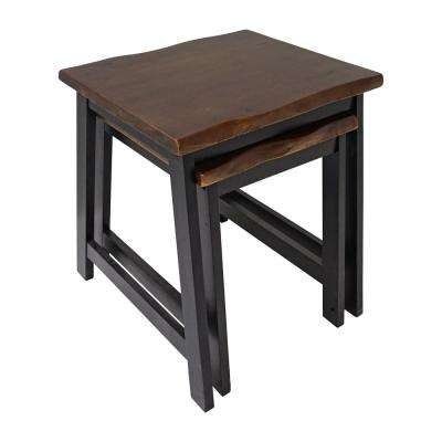 Zealand Dark Brown Nesting Table