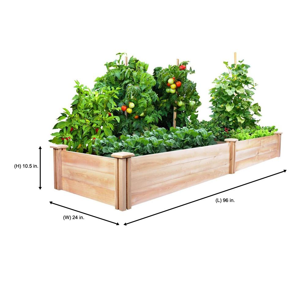 Greenes Fence 2 Ft X 8 Ft X 10 5 In Original Cedar Raised