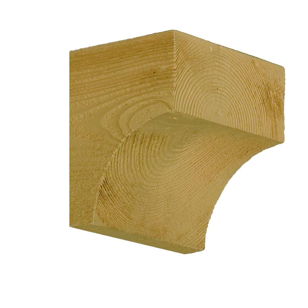 Fypon 6 in. x 6 in. x 5 in. Wood Grain Texture Block Pot Shelf