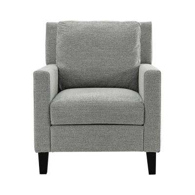 Grey Pillow Back Accent Chair