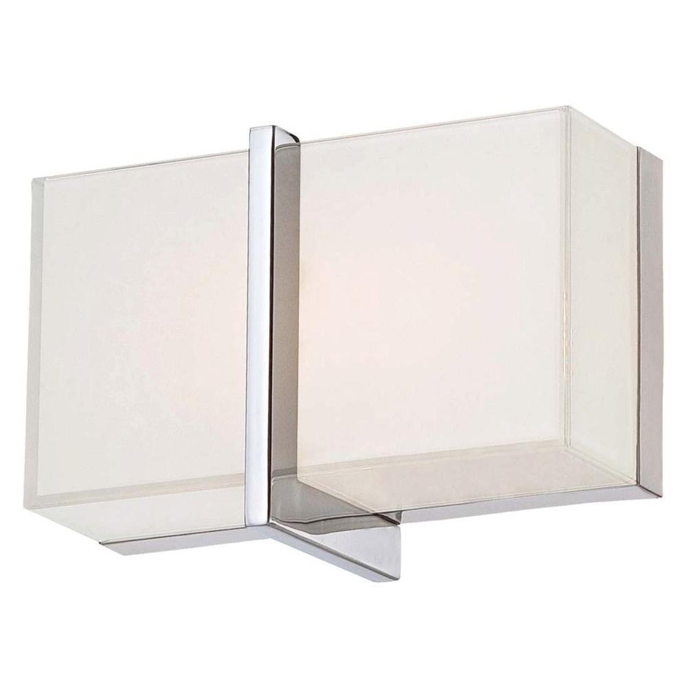 High Rise Bath 2-Light Chrome LED Vanity Light