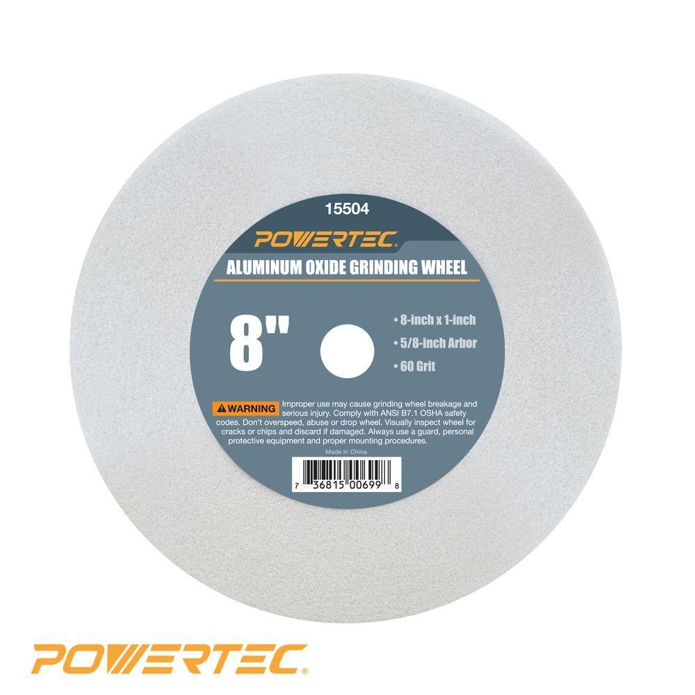 8 in. x 1 in. x 5/8 in. 60 Grit White Aluminum Oxide Grinding Wheel