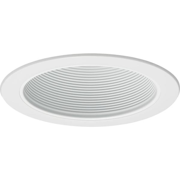Contractor Select 6 in. White Recessed Conical Baffle Trim