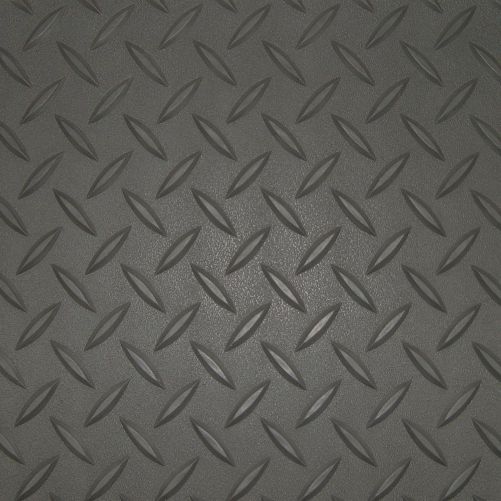 5 ft. x 9 ft. Charcoal Textured PVC Golf Cart Mat