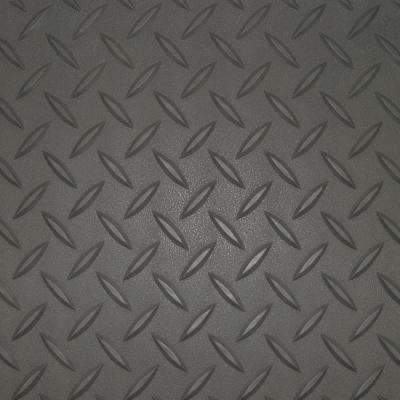 7.5 ft. x 14 ft. Charcoal Textured PVC Small Car Mat